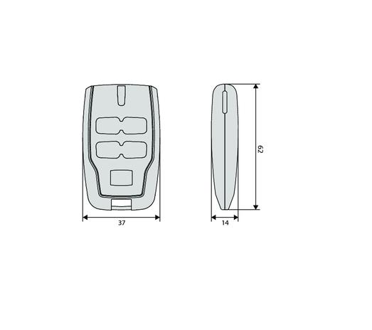 BFT KLEIO 2 Vārtu automātikas tālvadības pults