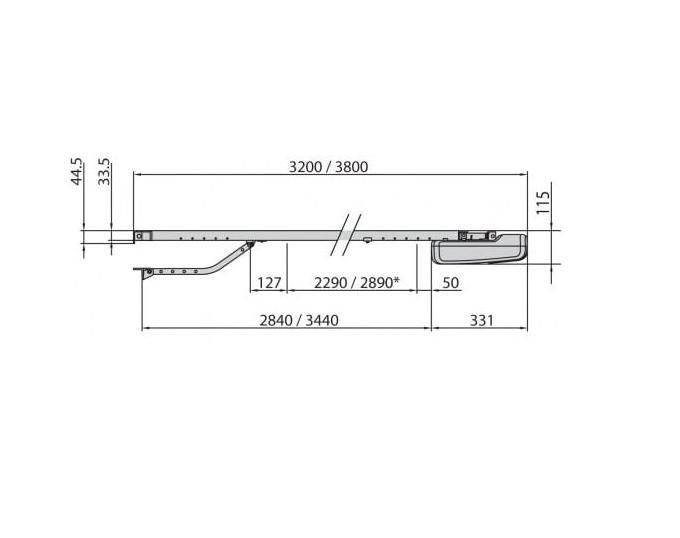 BFT BOTTICELLI 650 24V KIT 3.50m CHAIN (ar ķēdi) Paceļamo garāžas vārtu automātika
