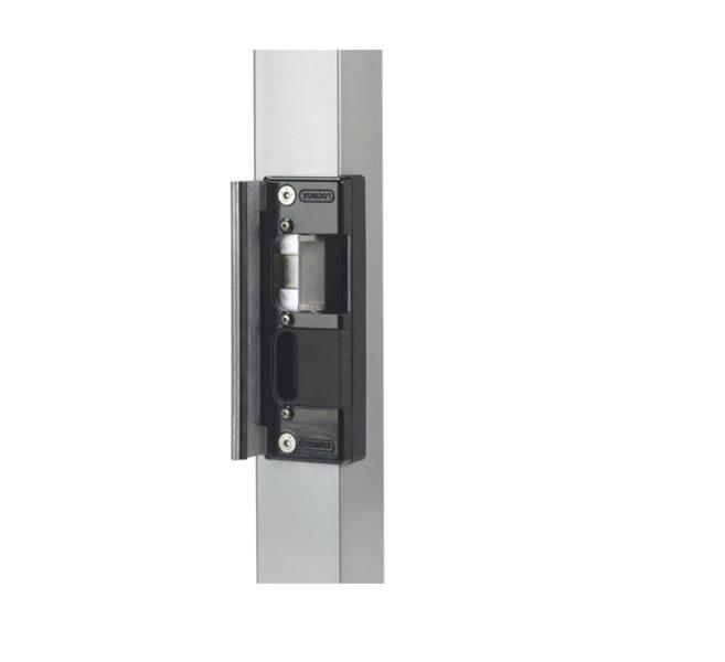 Gājēju veramo vārtu elektriskā aizbīdne/ elektrosprūds LOCINOX REPTURA SE-R RAL 9005 (melna)