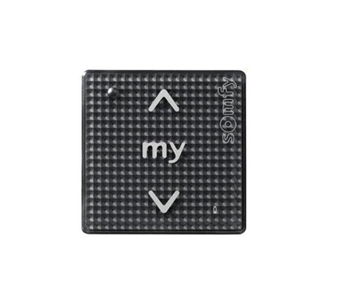 SOMFY Sienas slēdzis 1 kanāla SMOOVE BLACK RTS (skārienjūtīgs)